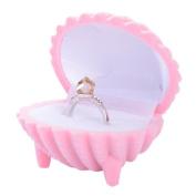 Nibesser Velvet Jewellery Case Shell Shape Wedding Earring Ring Pendant Jewellery Display Box