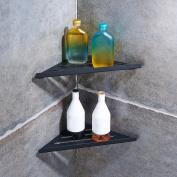 Stainless Steel Corner Shelves 2 Tier Wall Mount Shower Shelf Bath Caddy Storage Rack Holder for Bathroom & Kitchen