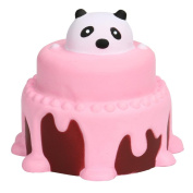 Squishy Stress Toys, Lovely Jumbo Panda Cream Cake Squeeze Toys Squishy Slow Rising Cream Scented Kawaii Decompression Toys Stress Relief Squishy as Collection Gift Toy