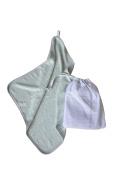 Bamboom 104 – 063 – 003 Towel Baby Bag for Asylum, Green/Water