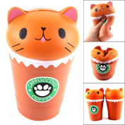 Rising Squeeze Toy 14cm Cut Cappuccino Coffee Cup Cat Scented Squishy Toys