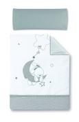 pirulos 77013120 – Duvet Cover 100 x 135 Pad Design Moon, White/Grey
