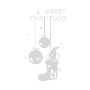 Broadroot Merry Christmas Gift Creative Xmas Pendant Glass Window Wall Sticker Decal