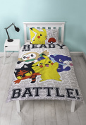 Pokemon Laredo Reversible UK Single / US Twin Duvet Cover with Matching Pillow Case Bedding Set