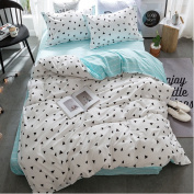 ZHIMIAN Reversible 3 Piece Tiny Triangles Pattern Duvet Cover Set with Zipper Closure(1 Duvet Cover + 1 Pillow Shams),120GSM,Ultra Soft