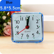 Tiean Square Small Bed Compact Travel Quartz Beep Alarm Clock Cute Portable