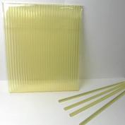 50pcs 15cm X 0.4cm Gold/Yellow Acrylic Lollipop Sticks for Cake Pops Lollipop Candy