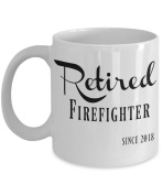 Retired Fireman - Firefighter Retirement Gifts for Women, Men - Retired Firefighter Since 2018 Coffee Mug - Mugs are Best Gift for Firemen, Firewomen, Fire Woman, Coworkers - 330ml Tea Cup