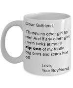Dear Girlfriend Mug Gift From Boyfriend - Rip a Big One - Christmas Stocking Stuffer - Valentine, Birthday, Anniversary - 330ml Cup