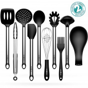 Kitchen Utensils Sets, Omocook 10-pc. Essential Cooking Utensils Gadget Set Stainless Steel and Black