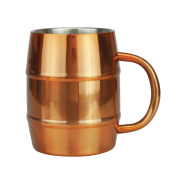 Stainless Steel Copper Moscow Mule Barrel Mug 470ml