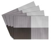 Nuovoware Placemats, [4 PACK] 30 x 45 cm Premium Exquisite Crossweave Stain Resistant Heat-resistant Non-slip Textilene Woven Plaid Kitchen Table Dining Mat Pads Place Mats, Brown, Pattern A