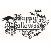 Broadroot Happy Halloween Waterproof Wall Decal Stickers Bats Kids Bedroom Decor
