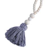 1PC Nordic Style Lovely Wood Beads Tassels Decorative Handmade Crafts for Nurseryroom Girls Room Princess Style Decor-Grey