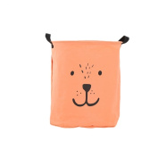 good01 Folding Laundry Bag Cute Bear Round Bucket Canvas Toy Clothes Storage Basket