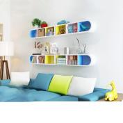 4 colour wall shelves wall-mounted living room corner shelf wall shelf study creative partition shelf bedroom storage rack