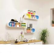 Colour bookshelf hanging living room corner shelf