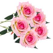 Hot Sale! Kavitoz 5 PCS Artificial Silk Fake Flowers Rose Flower Home Decor