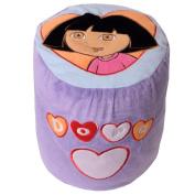 te-trend Plush Kids' Furniture Stool Chair Inflatable Dora Children's Stool Kid's Chair Purple Green Motif - Dora Purple Heart