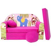 3 in1 Kid's Sofa rosa Africa H16+
