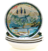 Tracy Porter for Poetic Wanderlust Folklore Holiday Set/4 Soup/Pasta Bowl 24cm x 5.1cm