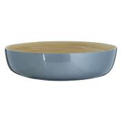 Kyoto Salad Bowl Spun Bamboo Metallic Silver Suitable For Everyday Use