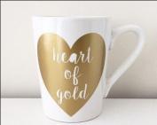 Valentine Heart of Gold Tea & Coffee Mug - Swan household ®