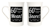 Amusing 60th Anniversary Mug Set with 60 Years of Snoring and Moaning by Haysoms
