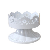 Youkara 10*9*7.5cm Lace White Cake Stand Housewares Decorating Show Stand for Wedding Dessert
