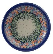 Traditional Polish Pottery, Handcrafted Ceramic Dinner Plate 26cm, Boleslawiec Style Pattern, T.301.DAISY