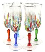 CALICE FLUTE OPERA Original Murano Handpainted Glass Glasses Prosecco Champagne Venice