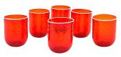 BICCHIERI ROMBI Water Drink Glasses Original Murano Hand Made Colours Tradition Venice