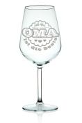 "Leonardo Wine glass with Engraved ""Oma ist die beste (Grandma is the Best Gift for Grandma/Birthday/Gift/Red Wine Glasses, White Wine Glass"
