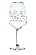 Leonardo Wine glass with Engraved Angel Without Wings is known as Mummy Gift for Mum/Mother's Day Red Wine White Wine Glass