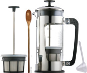Espro Coffee Press P5-530ml, Glass Carafe and Stainless Steel Cage, Zonoz Wooden Stirring Spoon & Zonoz One-Tablespoon Plastic Clever Scoop