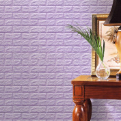 certainPL 3D Brick Wall Stickers, PE Foam Self-adhesive Wallpaper Removable and Waterproof Art Wall Tiles for Bedroom Living Room Background TV Decor