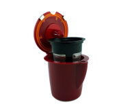 NRP Unique Design Burgundy Refillable Single Vue-cup Coffee Filter for Keurig VUE Brewers 2in1