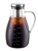 Eekay Wares Air-Tight Cold Brew Coffee Maker, Tea, Fruit Infuser, 1.7L, with Double Walled Stainless Steel Removable Filter