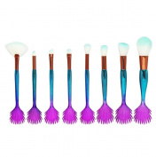 certainPL 8PCS Make Up Foundation Eyebrow Eyeliner Blush Cosmetic Concealer Brushes
