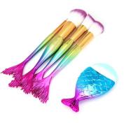 certainPL 5PCS Make Up Foundation Eyebrow Eyeliner Blush Cosmetic Concealer Brushes