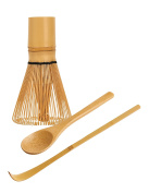 Traditional Japanese Matcha Tea Whisking Set, Handcrafted Bamboo Chasen, Chashaku Tea Scoop and Mini Bamboo Tea Spoon, Helen's Asian Kitchen