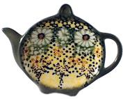 Teabag Caddy in Signature Polish Pottery Pattern Roksana