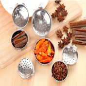 Buorsa 4 Sizes Stainless Steel Ball Tea Infuser Mesh Filter Strainer Loose Tea Leaf Spice Seasoning balls Home Kitchen Accessories