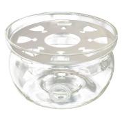 TOOGOO(R) Heat-Resisting Teapot Warmer Base Clear Glass Round Shape Insulation Tealight