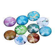 Yunso 10pcs Fantasy Elk Flat Back Glass Cabochons Domes Mixed Cameo Patch Fit Cabochons for Pendant Trays Jewellery Making 12mm