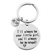 Gluckliy Mom I'll always be your little girl, you'll always be my hero Keyring Keychain Gift for Women