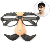 Funny Plastic Nose Moustache Clown Glasses Hallowmas Party Supply
