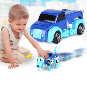 Boyiya Random Colour Clockwork Transformable Dog Car, One key Transformation from Car to Dog and Reverse For Kids Perfect Toy Gift