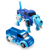 1PC Robot Toy, COOL99 The Dog Car Transformer Novelty Clockwork Deformable Car Dog New Year Kids Toy