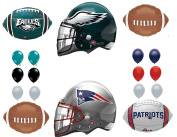 New England Patriots & Philadelphia Eagles Party Balloons Decoration Supplies